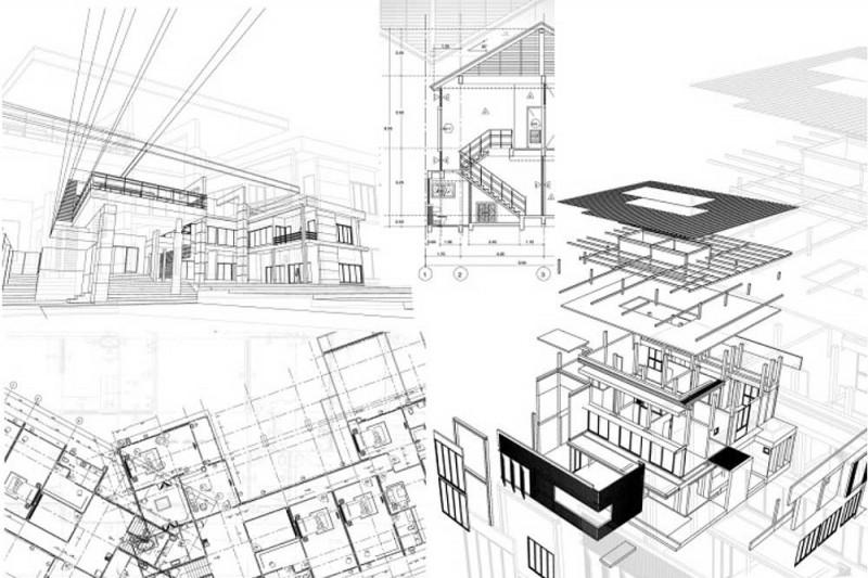Projecte d´obra industrial i residencial